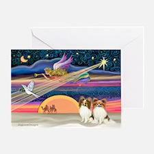 Xmas Star/2 Papillons Greeting Card
