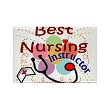 Cute Nursing instructor Rectangle Magnet