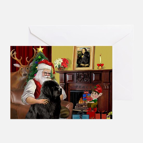 Santa's Newfie Greeting Cards (Pk of 20)