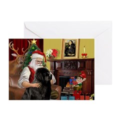 Santa's Newfie Greeting Cards (Pk of 10)