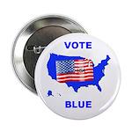 Vote Blue Democrat Button