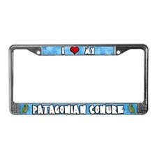 Love Patagonian Conure License Plate Frame Cartoon