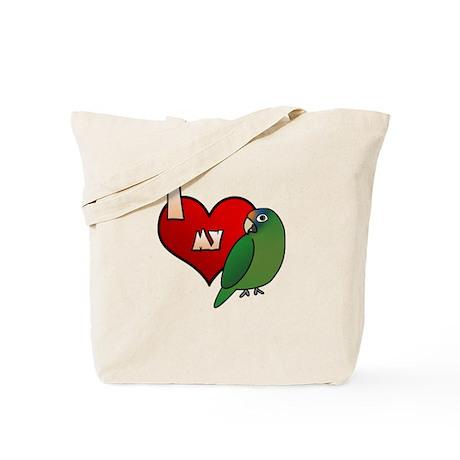 Love Half-Moon Conure Tote Bag