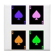 Riyah-Li Designs Four Aces Tile Coaster