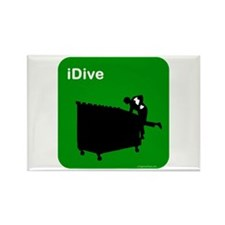 I dive dumpster diver Rectangle Magnet (10 pack)
