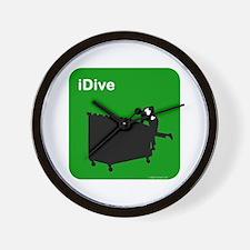 I dive dumpster diver Wall Clock