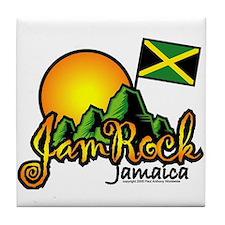 Welcome to JamRock, Jamaica Tile Coaster