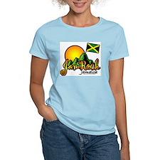 Welcome to JamRock, Jamaica Women's Pink T-Shirt