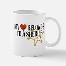 My Heart Belongs to a Sheriff Small Small Mug