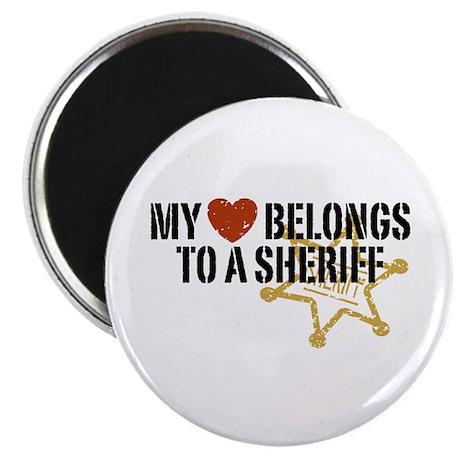 My Heart Belongs to a Sheriff Magnet