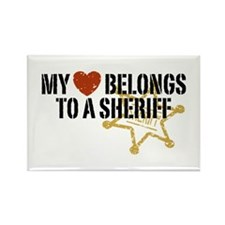 My Heart Belongs to a Sheriff Rectangle Magnet