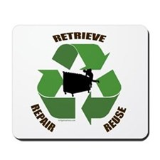 3 Rs of dumpster diving Mousepad