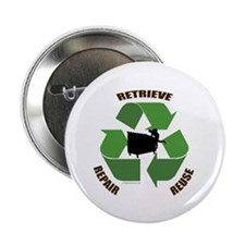 """3 Rs of dumpster diving 2.25"""" Button"""