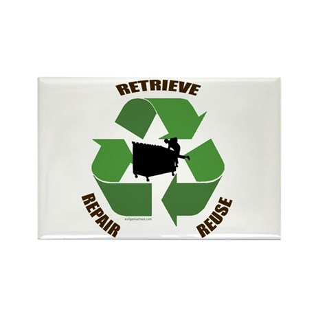 3 Rs of dumpster diving Rectangle Magnet (10 pack)