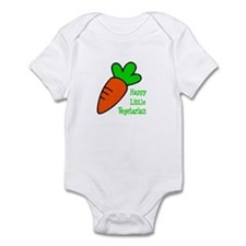 Happy Lil Vegetarian Infant Bodysuit (No Face)