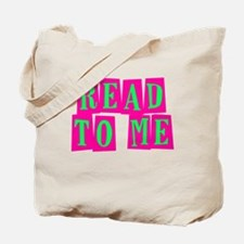 Pink & Green Read to Me Tote Bag