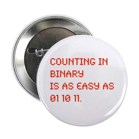 "Counting in Binary 2.25"" Button (100 pack)"