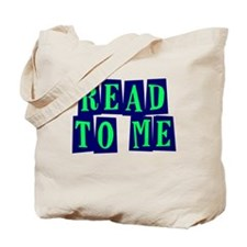 Navy & Green Read to Me Tote Bag
