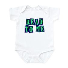Navy & Green Read to Me Infant Bodysuit