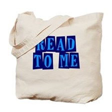 Navy & Blue Read to Me Tote Bag