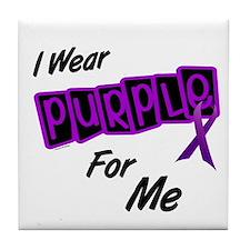I Wear Purple For Me 8 Tile Coaster