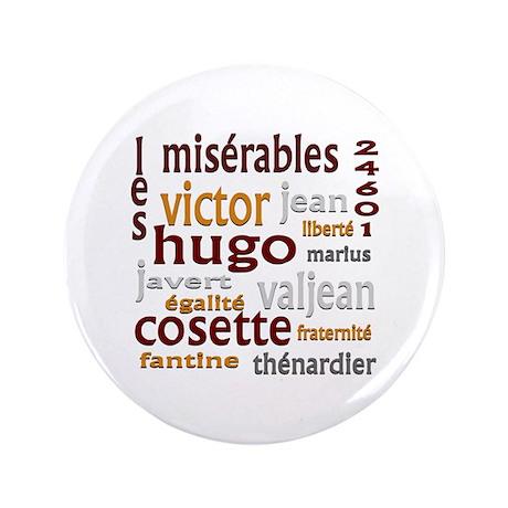 """Les Miserables 3.5"""" Button"""