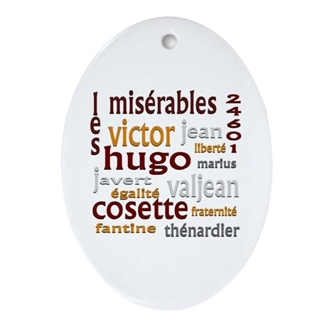 Les Miserables Ornament (Oval)
