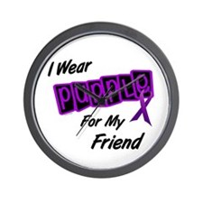 I Wear Purple For My Friend 8 Wall Clock
