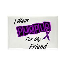 I Wear Purple For My Friend 8 Rectangle Magnet