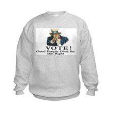 Please Vote Sweatshirt