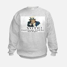 Please Vote Sweatshirt