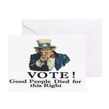 Please Vote Greeting Card