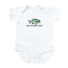 Lake Okoboji Iowa Infant Bodysuit