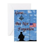 At Half Mast Greeting Card