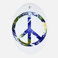 Peace on Earth Oval Ornament