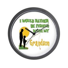 Fishing With Grandson Wall Clock
