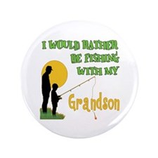 """Fishing With Grandson 3.5"""" Button (100 pack)"""