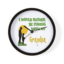 Fishing With Grandpa Wall Clock