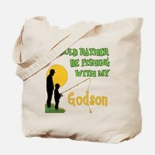 Fishing With Godson Tote Bag