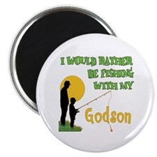 Fishing With Godson Magnet