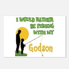 Fishing With Godson Postcards (Package of 8)