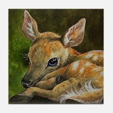 Deer Painting on Tile Coaster
