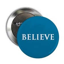 "Believe, Blue 2.25"" Button"