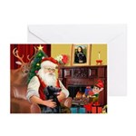 Santa's Flat Coat R Greeting Cards (Pk of 20)
