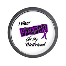 I Wear Purple For My Girlfriend 8 Wall Clock