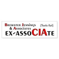 Brewster Jennings & AssoCIAte Bumper Bumper Sticker