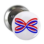 "RED, WHITE, AND BLUE RIBBON 2.25"" Button"