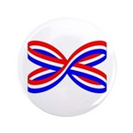 "RED, WHITE, AND BLUE RIBBON 3.5"" Button"
