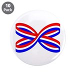 "RED, WHITE, AND BLUE RIBBON 3.5"" Button (10 p"
