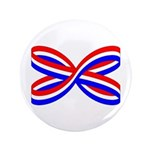 "RED, WHITE, AND BLUE RIBBON 3.5"" Button (100"